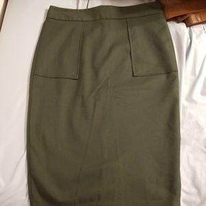 Zara Basics Pencil Skirt, Size M